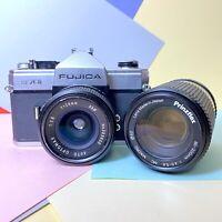 Fujica ST 701 35mm SLR Film Camera, 28mm F2.8 & 80-200mm Lenses Retro Lomo