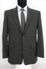Hickey Freeman 2Btn Suit Sport Coat Green Blue Black Check Loro Piana Wool 38R