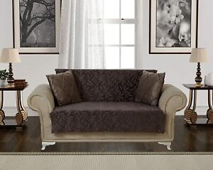 Chiara Rose Couch Covers for Dogs Sofa Slipcover 3 Seater Furniture Brown.