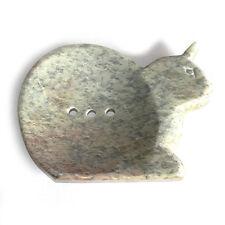 Handmade Natural Stone Bathroom Accessories Large Soapstone Dish Cat Gift Ideas