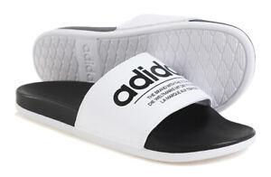 adidas Men ADILETTE Comfort Slipper White Shoes Slide Flip Casual Sandals FX4287
