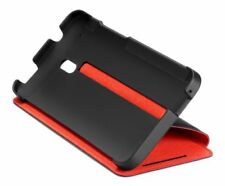 HTC One Mini Double DIP Flip Black Red Protection Hard Protector Case