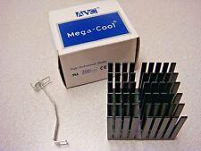 (1) AVC C010181 MEGA-COOL ALUMINUM HEATSINK BLACK EIF CLIP ZIF CPU CHIP PENTIUM