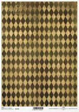Reispapier-Motiv Strohseide-Decoupage-Serviettentechnik-Vintage-Shabby-19080
