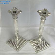 More details for superb pair solid silver corinthian column 11 3/4