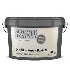 Schöner Wohnen Schimmer-Optik Effektfarbe Trendstruktur Wandfarbe pearldust 2,5