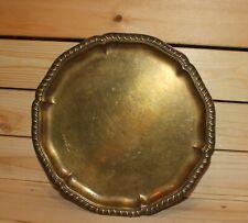 Antique brass serving tray platter