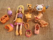 """Polly Pocket Lot """"Colors of the Rainbow"""" Doll Orange Pets Cat Dog Accessory L31"""