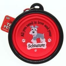 Schnauzer Dog Collapsible Travel Pet Bowl Gift Stocking Filler