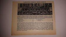 Saratoga Springs Pleasantville New York High School 1927 Football Team Picture