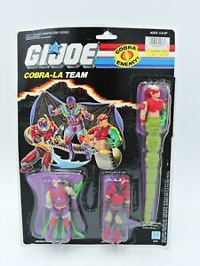 Cobra-La Team G.I. Joe 1987 MOC vintage figure set Royal Guard NEW American Hero