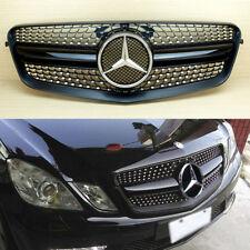 Mercedes Benz E-Class W212 E63AMG Look Gloss Black Diamond Front Grille 2010-13