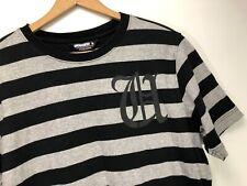 UNDFTD Undefeated Black Gray Striped T-Shirt Sz M Mens Street Hype Skate Hip Hop