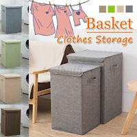 Storage Basket Lid Hamper Laundry Box Clothes Folding toys Large Washing Bin