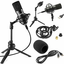 VONYX CM300B USB Pro Podcast Set Studiomikrofon Großmembran Kondensatormikrofon!
