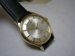 OMEGA COSTELLATION PIE-PAN AUTOMATIC DATE 14k SOLID YELLOW GOLD 1966 WATCH