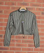 Adidas Green Striped Cropped Sweatshirt Top UK 10