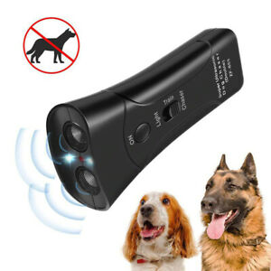Ultrasonic Bark Buddy Dogs Training Repeller Control Device 3 in 1 LED Trainer