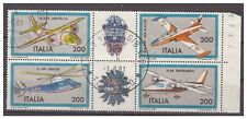 ITALIA 1981 -  AEREI   BLOCCO   USATO