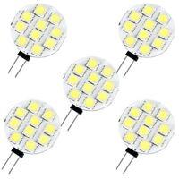 5 X G4 Pure White 10 5050 SMD LED Spot Light Lamp Bulb DC 12V B4M7