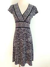BCBG MAXAZRIA Petites Cap Sleeve Dress Gray & Black Size SP