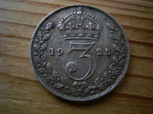 Threepence 3d Silver ~ Brass GB  Great Britain Threepence Thrupence Variants