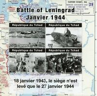 Chad Military Aviation Stamps 2020 MNH WWII WW2 Battle Siege of Leningrad 4v M/S