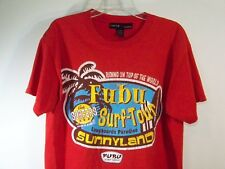 Mens L FUBU the Collection SURF TOUR T-Shirt SS Graphic Tee