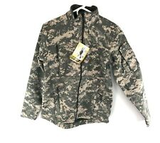 Massif Army Elements Jacket, ACU, USGI, SMALL Flame Resistant Water Wind Proof