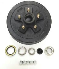 "One 10"" X 2-1/4"" Trailer Brake Hub Drum Kit 5 on 4.5"" for 3500 lbs axle - 22001K"