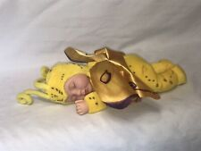 """Rare Anne Geddes™ Sleeping Baby Butterfly Doll Yellow Plush 8"""" Retired 2001"""