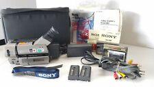Sony CCD-TRV65 Hi8 XR Used few times Bundle Batteries Tape Power Bag Guarenteed.