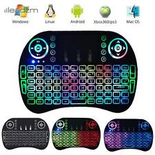 10x Backlit LED Mini Wireless Keyboard Touchpad for PC Android TV Box Smart HTPC