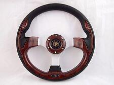 CLUB CAR PRECEDENT Wood Burl steering wheel golf cart With  Adapter 3 spoke