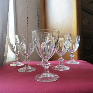 6 Glasses Wine White IN cristal d arques Model Rambouillet