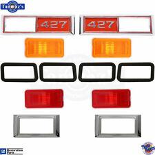 """68-69 Nova 68 Chevelle Side Marker Light Lamp Lens Bezel Gasket Amber """"427"""" RED"""