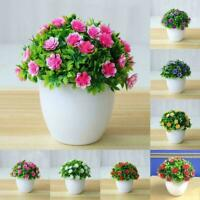 Artificial Potted Flowers Fake False Plants Outdoor Pot Garden DIY Home T8K0