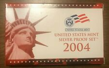 2004 US Mint Silver Proof Set with Box/COA - US Coins