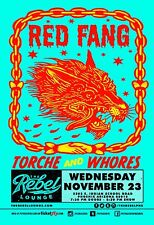 RED FANG /TORCHE AND WHORES 2016 PHOENIX CONCERT TOUR POSTER -Stoner Metal Music