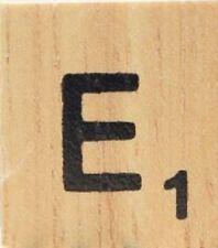 INDIVIDUAL WOOD SCRABBLE TILES! 8 FOR $2, THEN 25 CENTS PER TILE. LETTER E