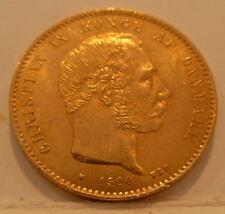 Denmark 1900 Gold 20 Kroner UNC