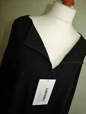 NOOK Lagenlook leichte baumwoll Tunika-Bluse in schwarz Gr3 Neu