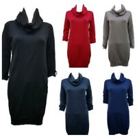 Women`s New Esprit Cowl Neck Jumper Dress UK Sizes 6-8-10-12-14-16 - RRP £35