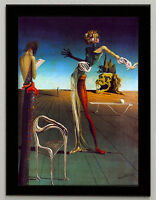 Salvador Dali Woman and roses canvas print framed 6.8X8.8&10X13,6 poster
