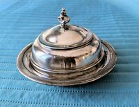 Antique Silver plate, Monarch Plate Brand #224 Butter Dish, established in 1893