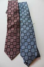 Bloomingdale's The Mens Store 100% Silk Slim Tie Red Blue Silver Gray NWT