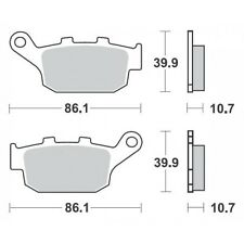 SBS REAR BRAKE PADS. SUIT ALL BUELL S1 S3 X1 M2 1998-2002