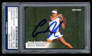 Anna Kournikova Signed 2003 NetPro #10 (PSA Encapsulated) Rookie Card