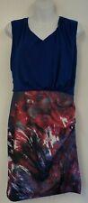 Karen Millen Blue & Pink Patterned Sleeveless Dress (UK Size 12) BNWT