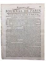 Fuite du Roi Louis 16 à Varennes 1791 Bourbon Rare Journal Révolution Française